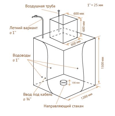чертеж металлического кессона