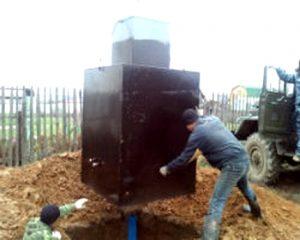 установка металлического кессона