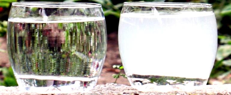 известь в воде из скважины