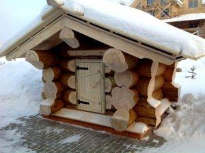 домик для скважины из бруса под баню