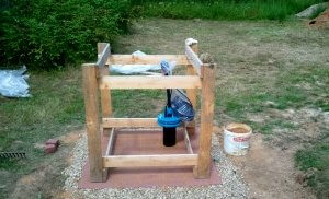 каркас домика для скважины