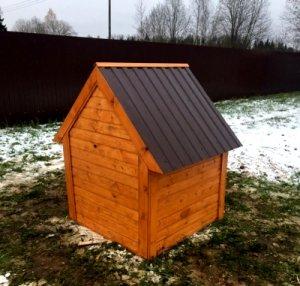 крыша домика под скважину